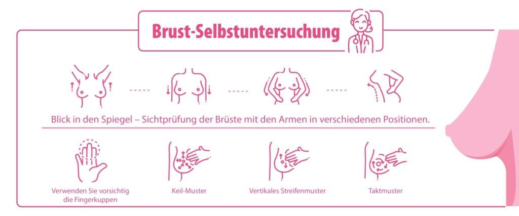 Brust abtasten - Knoten in der Brust erkennen